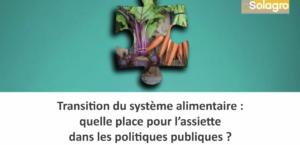 Quelle place pour l'assiette dans les politiques publiques?