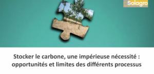 Stockage carbone, une impérieuse nécessité