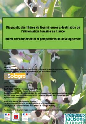 Diagnostic des filières de légumineuses à destination de l'alimentation humaine en France