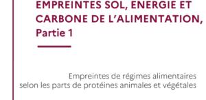 Empreintes sol, énergie et carbone de l'alimentation
